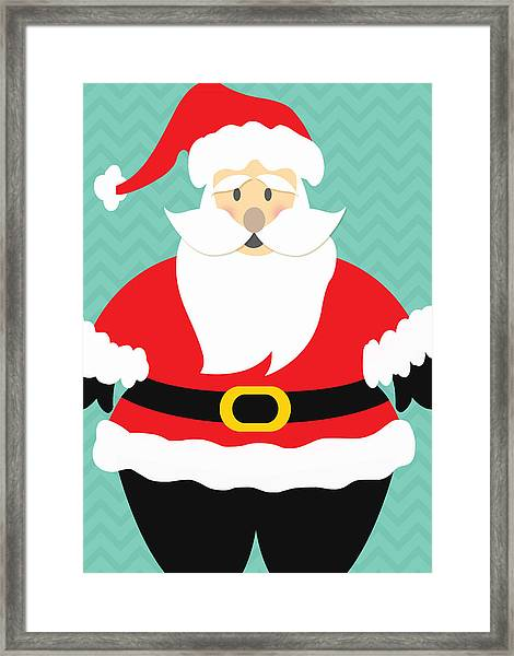 Jolly Santa Claus Framed Print
