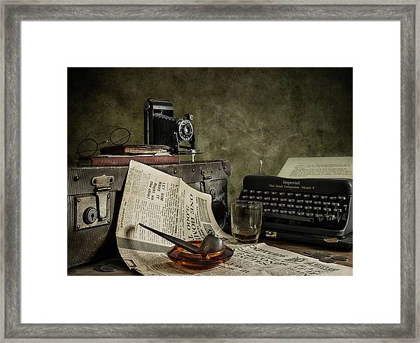 Jonnie Walker War Correspondent Framed Print