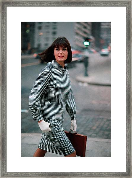 Journalist Gloria Steinem Wearing Sloat Framed Print