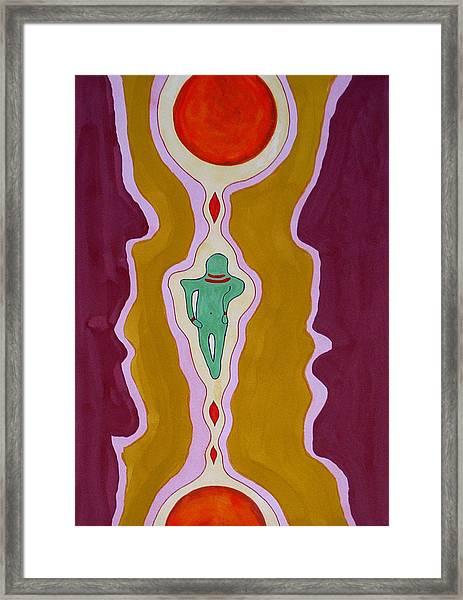 Journey Between Suns Original Painting Framed Print