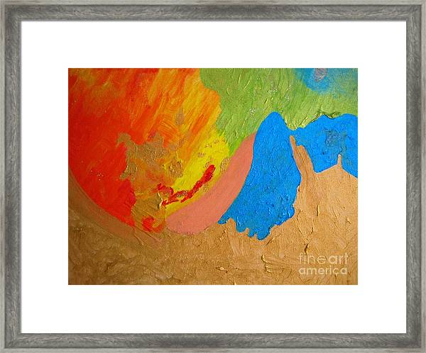 Joy And Cooperation  Framed Print