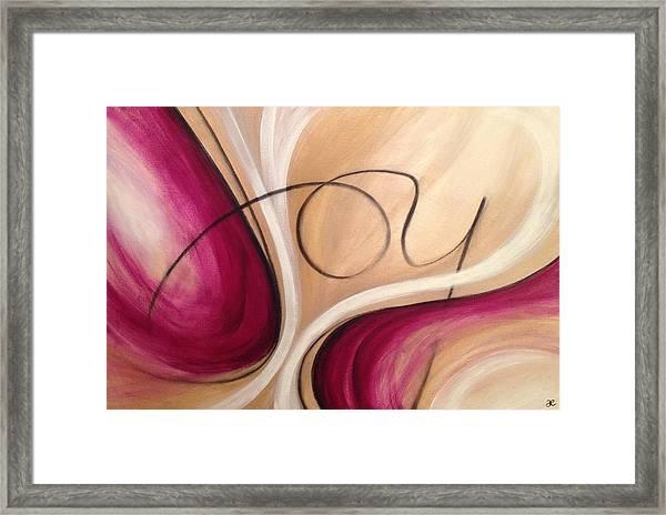 Joy And Strength Dance Together Framed Print