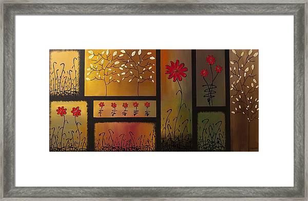 Joyful Garden Framed Print