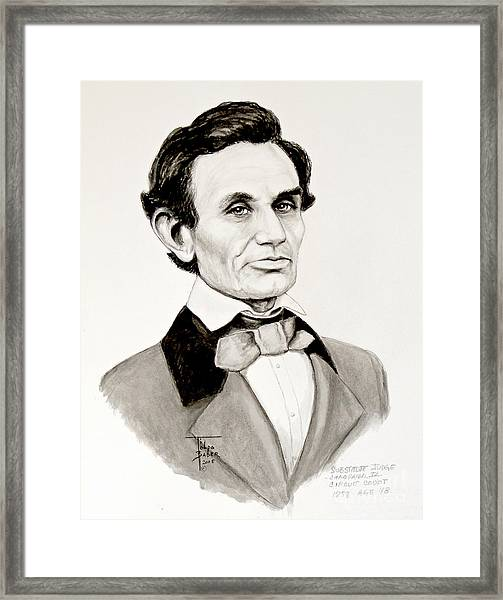 Judge Lincoln 1858 Framed Print