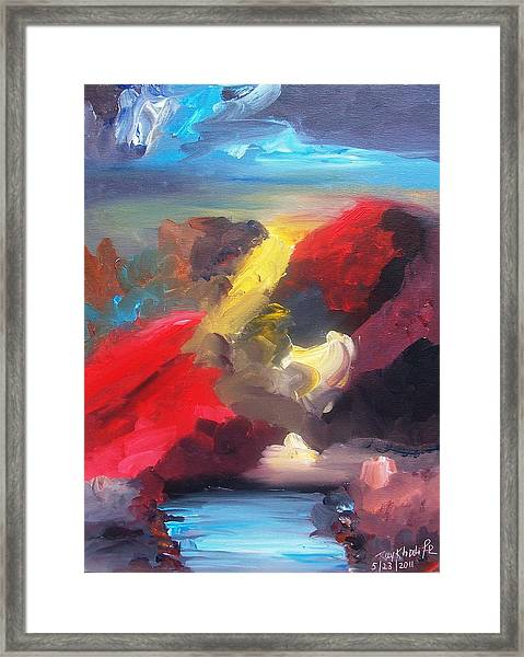Framed Print featuring the painting Judgment Day by Ray Khalife