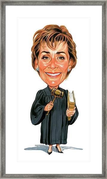 Judith Sheindlin As Judge Judy Framed Print