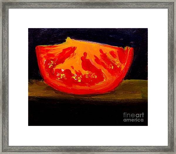 Juicy Tomato Modern Art Framed Print