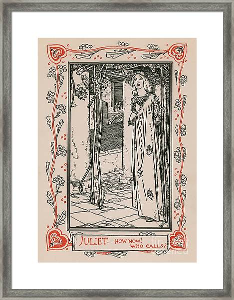 Juliet From Romeo And Juliet Framed Print