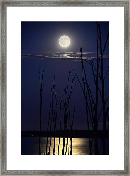 July 2014 Super Moon Framed Print