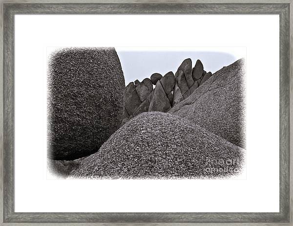 Jumbo Rocks Framed Print
