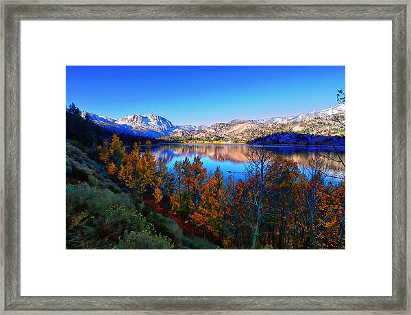 June Lake California Sunrise Framed Print