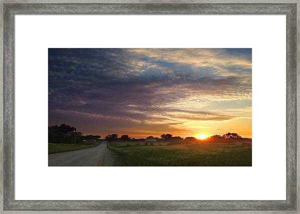 June Sky Osage County Framed Print