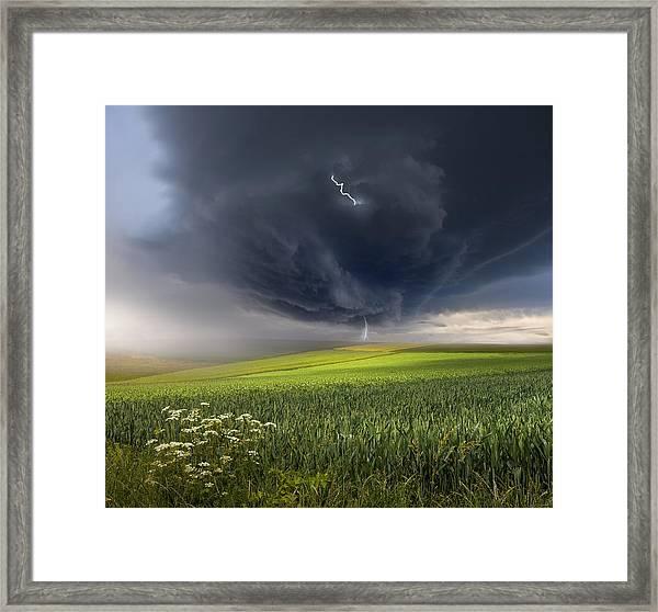 June Storm Framed Print