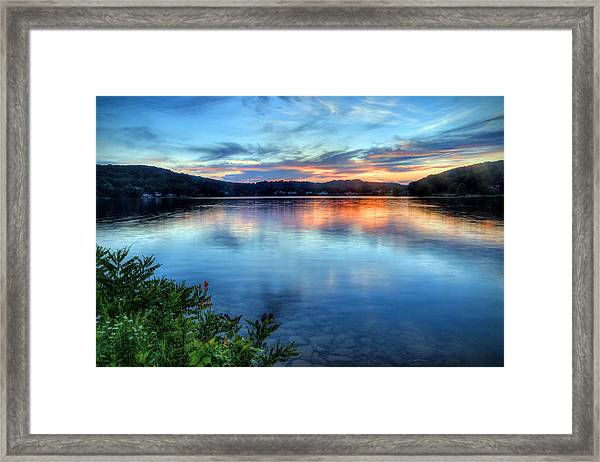June Sunset Framed Print
