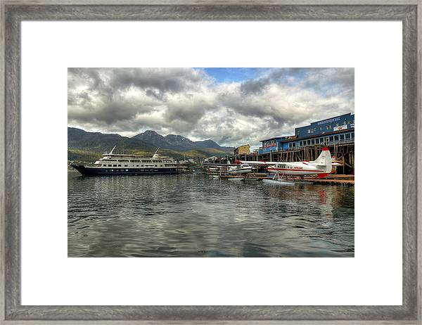 Juneau's Hangar On The Wharf Framed Print