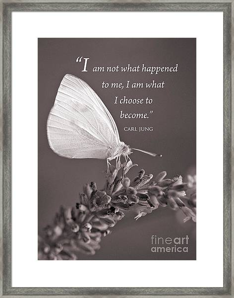 Jung Quotation And Butterfly Framed Print