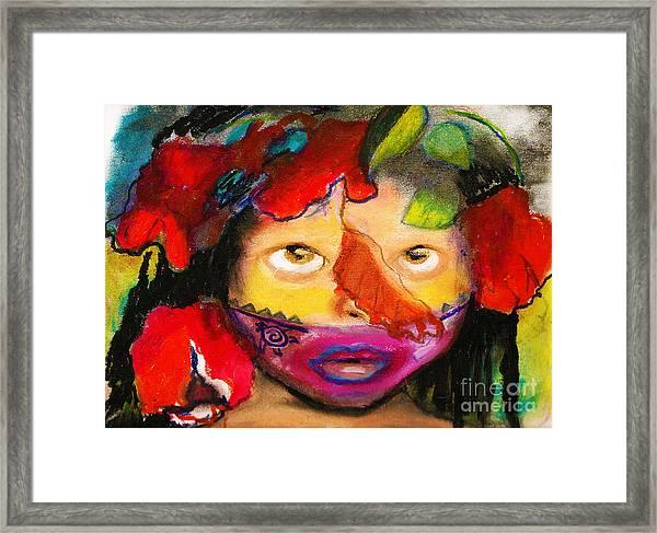 Jungle Girl Framed Print