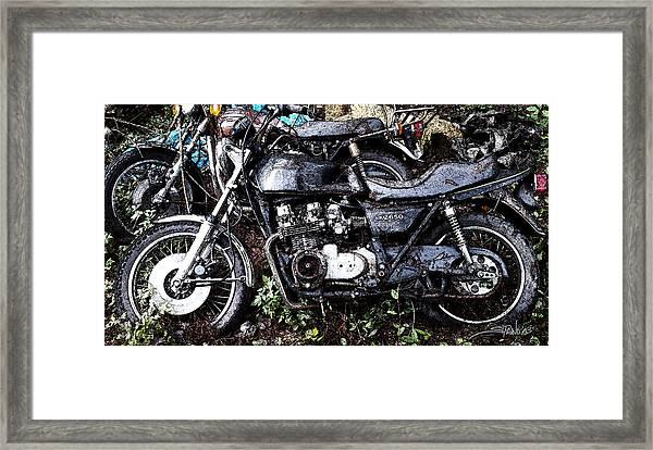 Junkyard Kawasaki Kz650 Framed Print