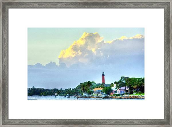 Jupiter Lighthouse Artsy Framed Print