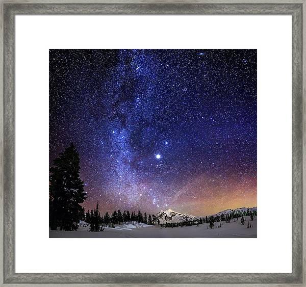 Jupiter Rising Framed Print