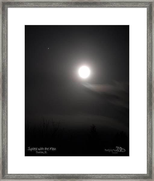 Jupiter With The Moon Framed Print
