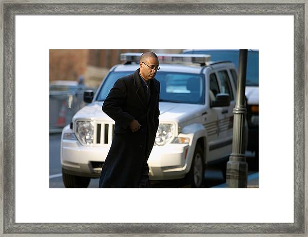 Jury Selection Begins In Trial Of Second Police Officer Involved In Freddie Gray Death Framed Print by Pool