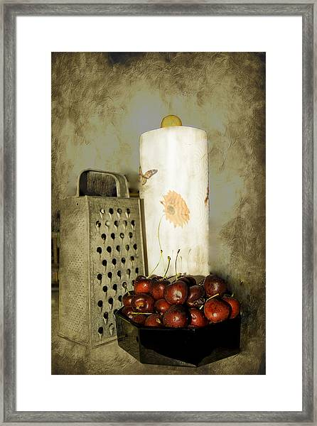 Just A Bowl Of Cherries Framed Print