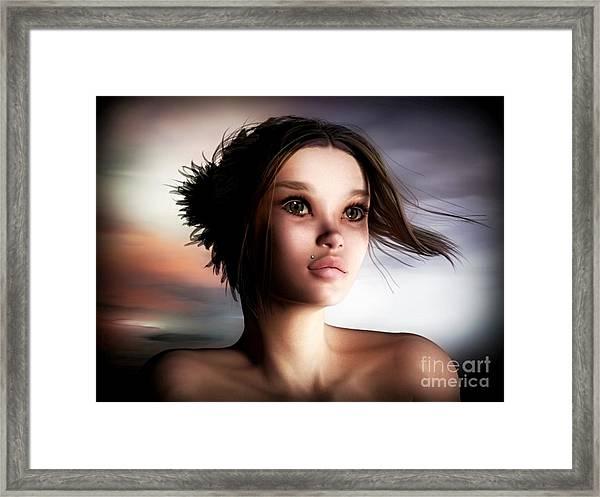 Just A Fantasy Framed Print by Sandra Bauser Digital Art