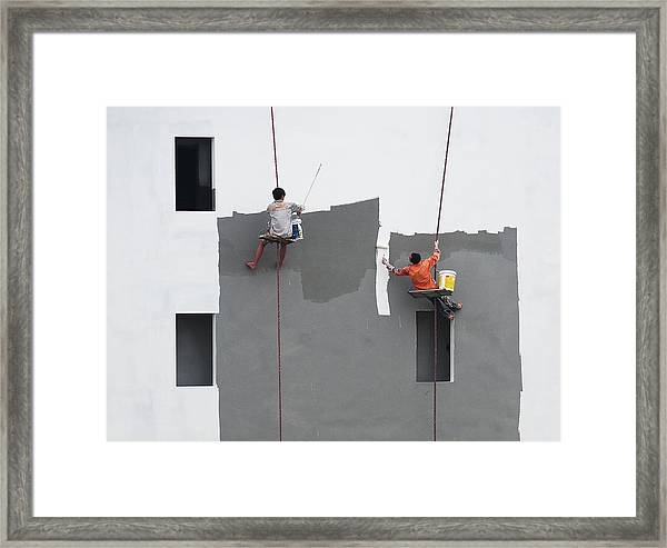 Just A Jump To The Left Framed Print