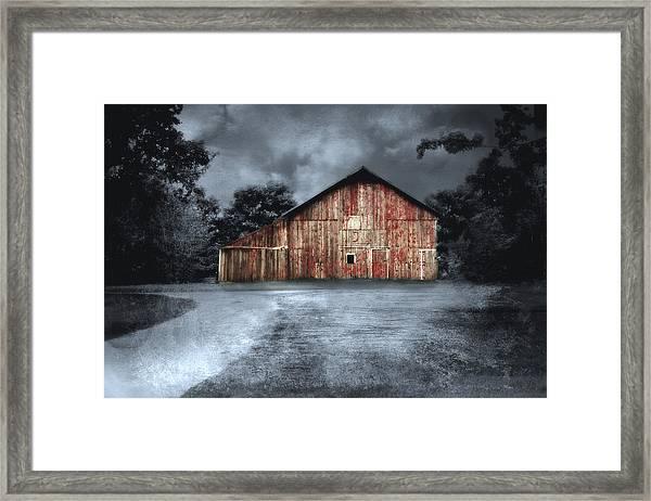 Night Time Barn Framed Print