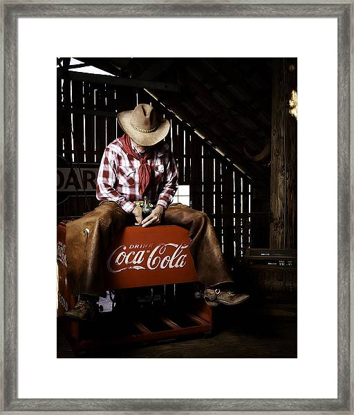 Just Another Coca-cola Cowboy 3 Framed Print