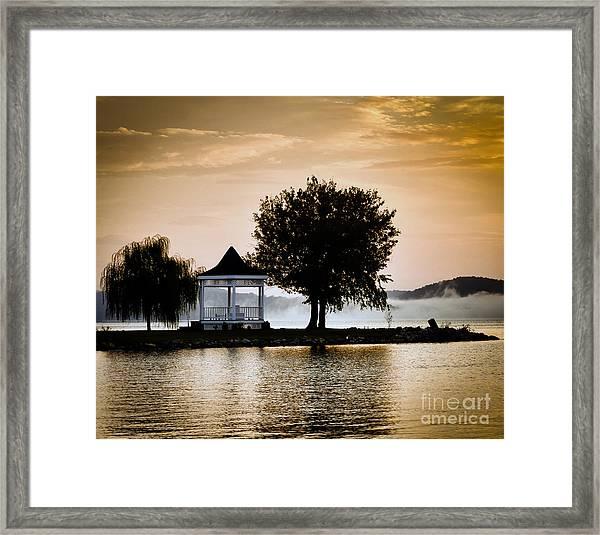 Just Before Sunrise Framed Print