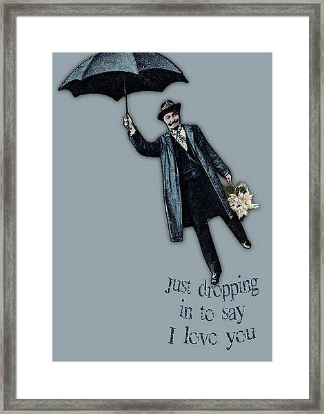 Just Dropping In Valentine Framed Print