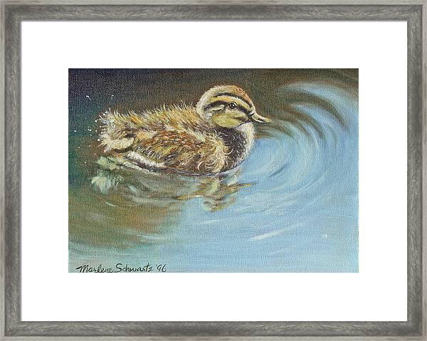 Just Ducky Framed Print