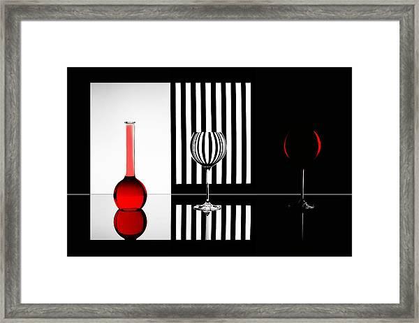 Just Red Framed Print