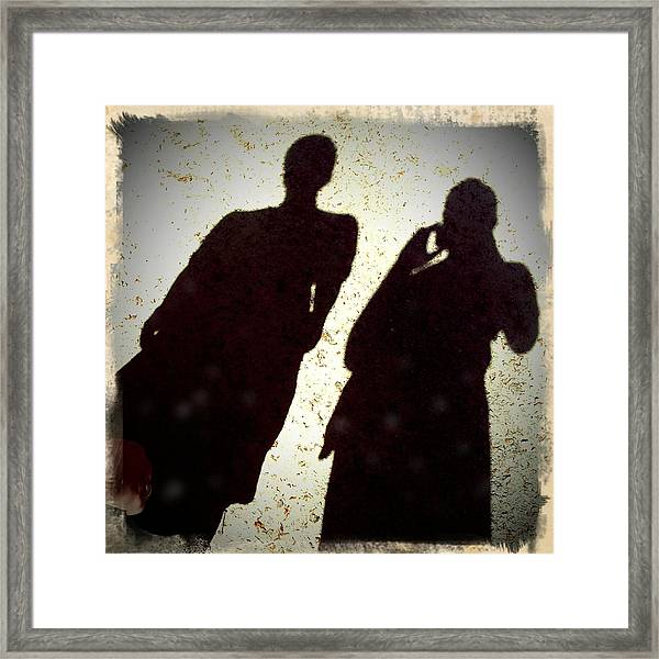 Just The Two Of Us - Shadows Of A Couple Framed Print