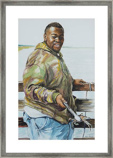 Just Used A String And Some Bait... Framed Print