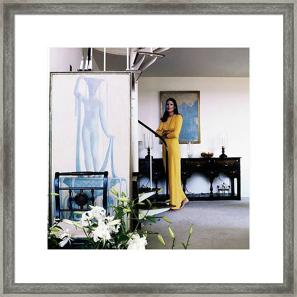 Justine Cushing At Home Framed Print