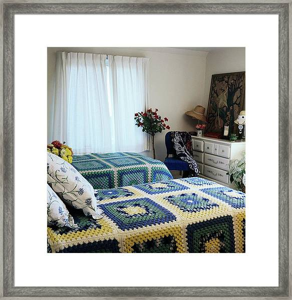 Justine Cushing's Guest Bedroom Framed Print