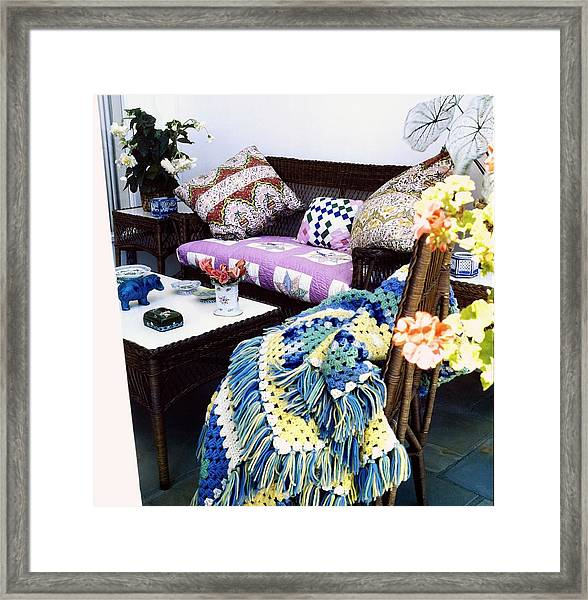 Justine Cushing's Living Room Framed Print