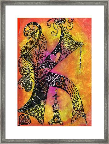 K-zen Framed Print