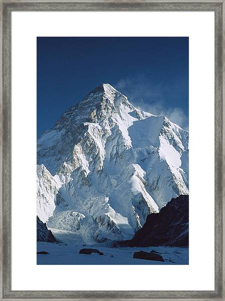 K2 At Dawn Pakistan Framed Print