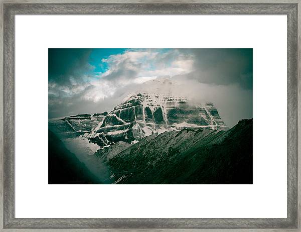 Framed Print featuring the photograph Kailas Mountain Tibet Home Of The Lord Shiva by Raimond Klavins