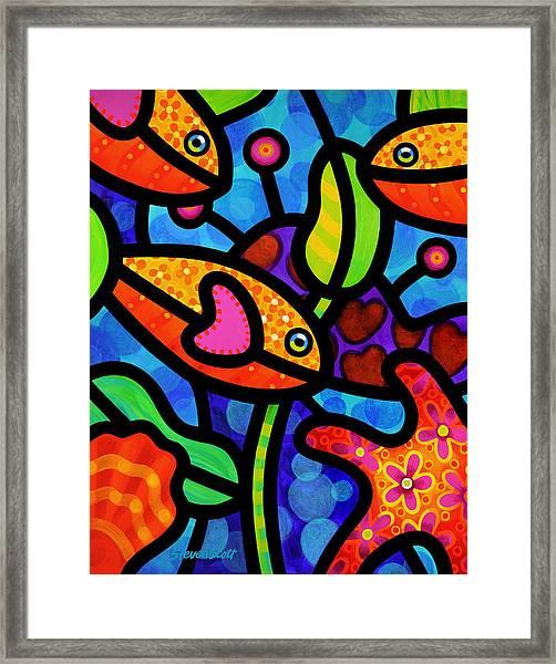 Kaleidoscope Reef Framed Print