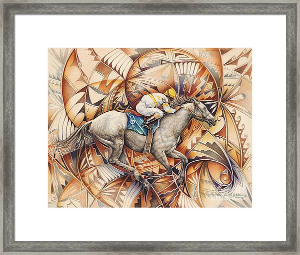 Kaleidoscope Rider Framed Print