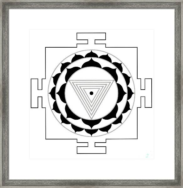Kali Yantra Framed Print