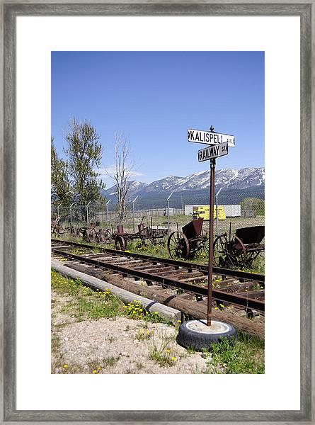Kalispell Crossing Framed Print