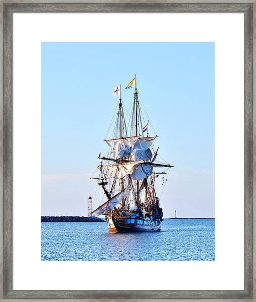 Kalmar Nyckel Tall Ship Framed Print