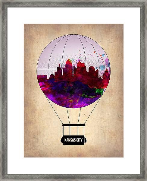 Kansas City Air Balloon Framed Print