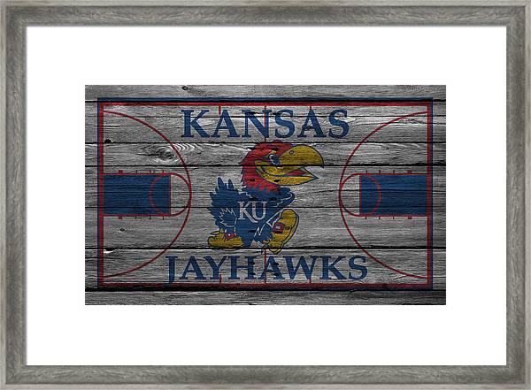 Kansas Jayhawks Framed Print
